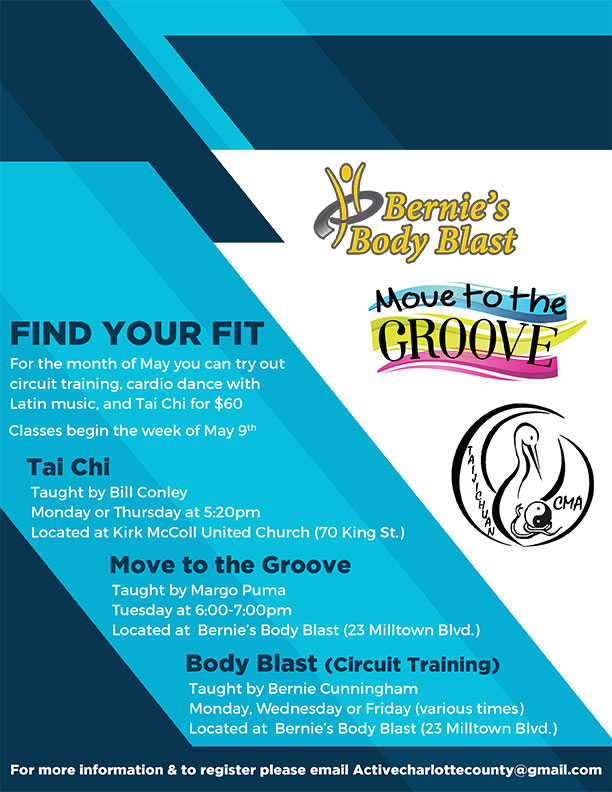 Bernie Body Blast Flyer