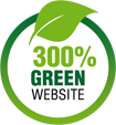 300% Green web hosting